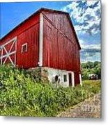 Big Red Barn Metal Print