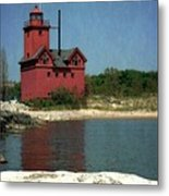 Big Red Holland Michigan Lighthouse Metal Print