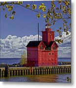 Big Red Lighthouse By Holland Michigan No.0255 Metal Print