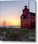 Big Red Lighthouse Metal Print