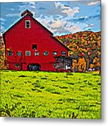 Big Red Line Art  Metal Print