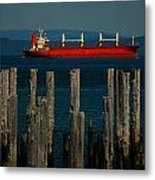 Big Red Metal Print by Mamie Gunning