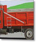 Big Red Truck Metal Print