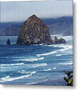 Big Rock On The Oregon Coast Metal Print