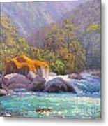 Big Rocks Holyford River Metal Print