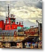 Big Ship Rising Metal Print