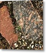 Big Stone Background Metal Print