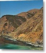 Big Sur And The Bridge Metal Print by Adam Jewell