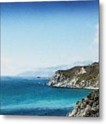 Big Sur Blue Metal Print