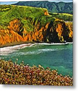 Big Sur California Coastline Metal Print