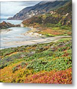 Big Sur California In Autumn Metal Print by Pierre Leclerc Photography