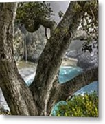 Big Sur Mc Way Falls At Julia Pfeiffer State Park-1 Central California Coast Spring Early Afternoon Metal Print