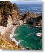 Big Sur - Mcway Falls Metal Print by Glenn McCarthy Art and Photography