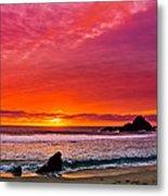 Big Sur Sunset Pfeiffer Beach Metal Print