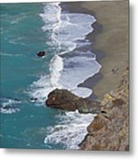Big Sur Surf Metal Print by Art Block Collections