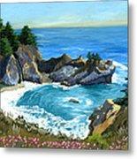 Big Sur Waterfall Metal Print