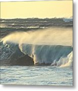Big Surf At Sunset Metal Print