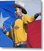 Big Tex And The Lone Star Flag Metal Print