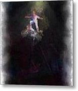 Big Top Circus Highwire Motorcycle Act Photo Art Metal Print