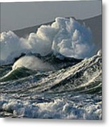 Big Waves At Clogher Beach Metal Print