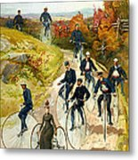 Big Wheel Bicycles Metal Print