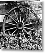 Big Wheel Bw Metal Print by Mel Steinhauer