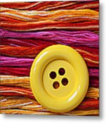 Big Yellow Button  Metal Print