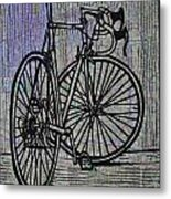 Bike 4 On Map Metal Print