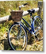 Bike At Nantucket Beach Metal Print