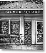Bike At Palmer Square Book Store In Princeton Metal Print