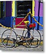 Bike La Boca Metal Print