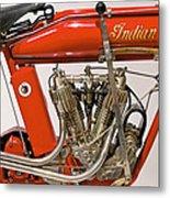 Bike - Motorcycle - Indian Motorcycle Engine Metal Print by Mike Savad