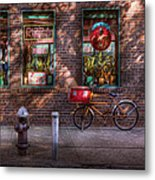 Bike - Ny - Chelsea - The Delivery Bike Metal Print