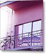Bike On My Balcony Metal Print by Artist and Photographer Laura Wrede