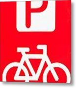 Bike Parking Metal Print