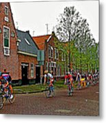 Bike Race On Orange Day In Enkhuizen-netherlands Metal Print