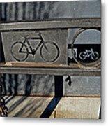 Bike Rack Metal Print