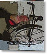 Bike Seat View Metal Print