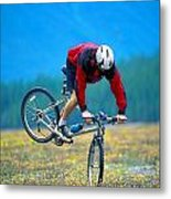 Bike Stunt Metal Print