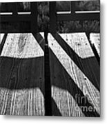 Bike Trail Bridge Bw Metal Print