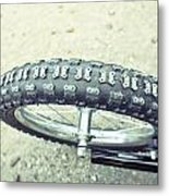 Bike Tyre Metal Print