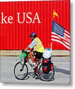 Bike Usa Metal Print