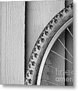 Bike Wheel Black And White Metal Print by Tim Hester
