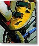 Biker Boy Foot Metal Print