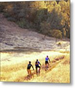 Bikers On Foresthill Divide Trail Metal Print