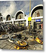 Bikes After The Storm  Metal Print