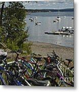 Bikes And Boats Metal Print