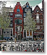 Bikes Everywhere In Amsterdam-netherlands Metal Print