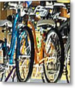 Bikes Hanging Around Metal Print