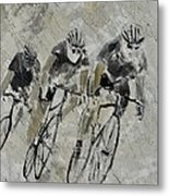 Bikes In The Rain Metal Print